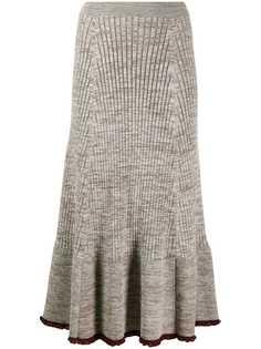 Jil Sander юбка миди в рубчик