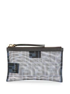 Fendi сетчатый клатч с узором FF