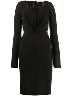 Givenchy Pre-Owned платье миди 2000-х годов с драпировкой