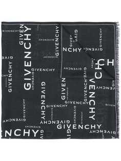 Givenchy шарф с бахромой