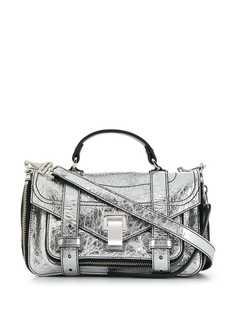Proenza Schouler маленькая сумка PS1+ с эффектом металлик