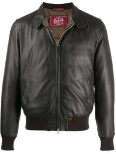 Stewart кожаная куртка-бомбер