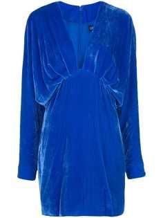 Cushnie платье с глубоким V-образным вырезом
