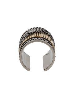 Alexander McQueen двухцветное кольцо Mechanical