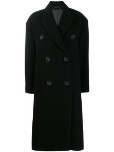 Acne Studios длинное двубортное пальто