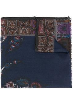 Etro шарф с цветочным принтом