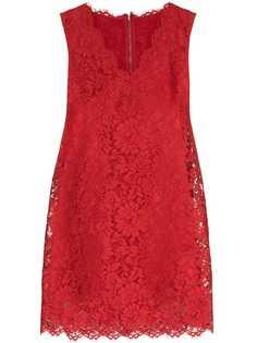 Dolce & Gabbana кружевное платье-трапеция длины мини
