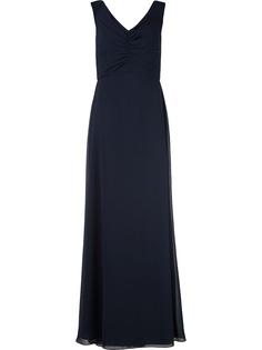 Amsale вечернее платье с V-образным вырезом