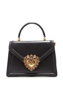 Черная кожаная сумка Devotion small Dolce & Gabbana