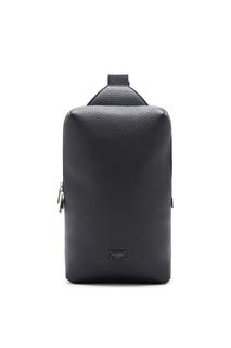 Черный наплечный рюкзак из кожи Dolce & Gabbana