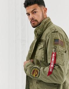 Куртка с нашивками Alpha Industries Huntingdon - Зеленый