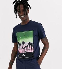 Черная футболка с пальмовым принтом Quiksilver - Черный