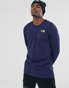 Темно-синяя футболка с длинным рукавом The North Face Simple Dome
