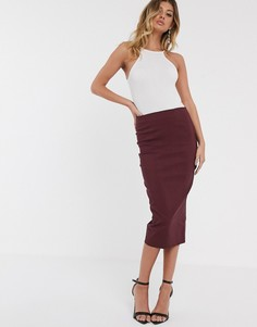 Длинная юбка-карандаш ASOS DESIGN - Красный