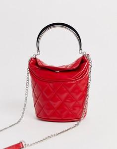 Красная сумка-мешок Stradivarius - Красный
