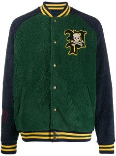 Polo Ralph Lauren махровая куртка-бомбер с логотипом