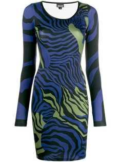 Just Cavalli платье с зебровым принтом