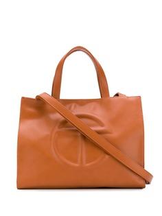 Telfar маленькая сумка-шопер с тисненым логотипом