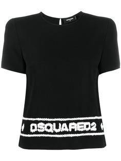 Dsquared2 футболка с вышитым логотипом