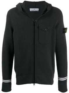 Stone Island flap chest pocket hooded jacket