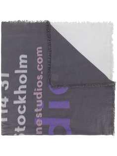 Acne Studios шарф с принтом тай-дай