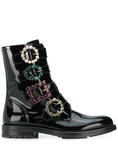 Dolce & Gabbana ботинки с декорированными пряжками
