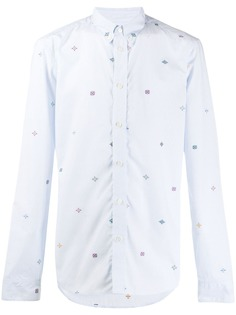 Kenzo полосатая рубашка с вышивкой
