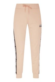 Бежевые брюки с лампасами Adidas
