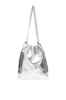 Серебристая сумка Irene Attico