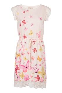 Летнее розовое платье Twin Set