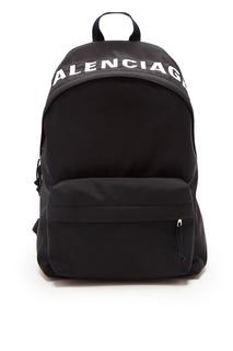 Черный рюкзак Wheel Balenciaga Man