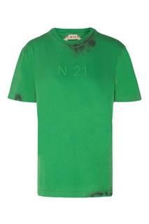 Футболка ярко-зеленого цвета No.21