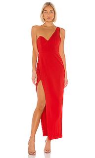 Вечернее платье с открытым плечом polixie - NBD