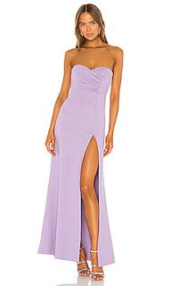 Вечернее платье без бретелек spanish moss - NBD