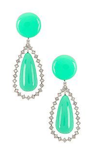 Crystal teardrop earrings - Lele Sadoughi