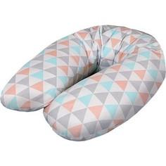Подушка для кормления Ceba Baby Multi (Себа Беби Мульти) Triangle turquoise-orange трикотаж W-741-067-016