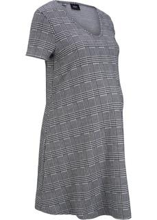 Платье для беременных в клетку, трикотаж Bonprix