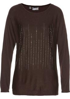 Пуловер, украшенный стразами Bonprix