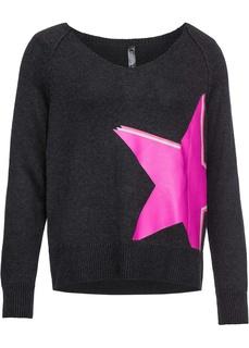 Пуловер с звёздным принтом Bonprix