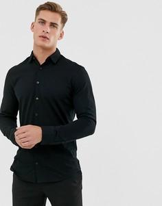 Черная трикотажная рубашка Jack & Jones Premium - Черный