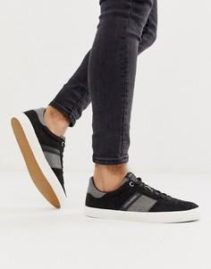 Черные замшевые кроссовки на контрастной подошве Jack & Jones - Черный