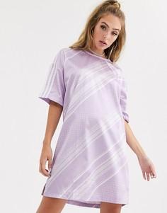Платье с принтом adidas Originals - Фиолетовый