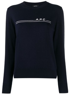 A.P.C. джемпер с логотипом