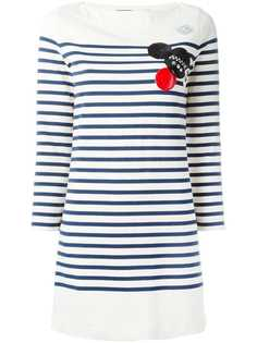 Marc By Marc Jacobs полосатое платье с заплаткой
