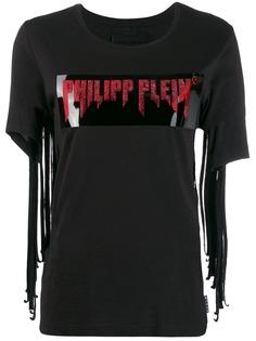 Philipp Plein футболка с бахромой