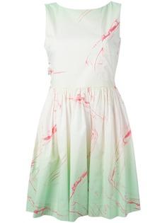 Marc By Marc Jacobs расклешенное платье с мраморным рисунком