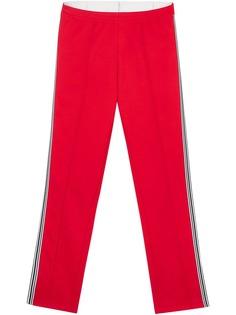 Burberry спортивные брюки из джерси с лампасами