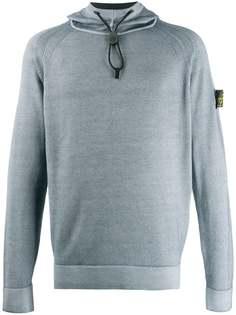 Stone Island свитер с капюшоном и нашивкой-логотипом
