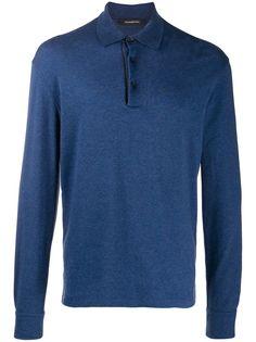 Ermenegildo Zegna рубашка-поло с длинными рукавами