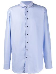 Etro рубашка с косым воротником